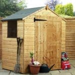 4' x 6' Shiplap OSB Apex Garden Shed With Single Door