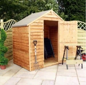 4' x 6' Waney Edge Budget Shed - No Windows