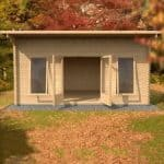 4.2m x 5.4m Contemporary Home Office Log Cabin