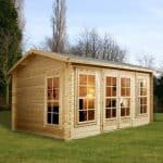 4.5m x 3.5m Home Office Director Log Cabin