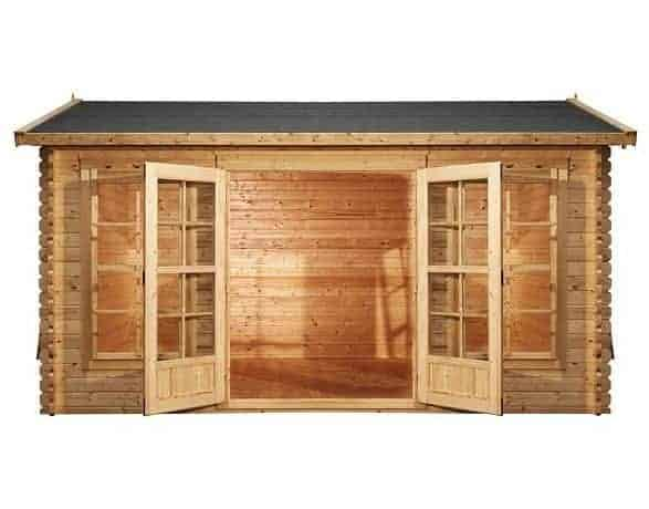 45m x 35m Home Office Director Log Cabin