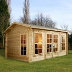 4m x 3m Home Office Director Log Cabin Feature