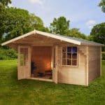 4m x 3m Retreat Traditional Log Cabin