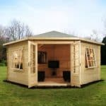 4m x 4m Lodge Corner Log Cabin