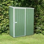 5' x 2' 7 Premium Pale Eucalyptus Easy Build Pent Metal Shed