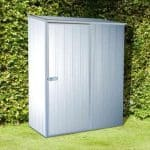 5' x 2' 7 Premium Titanium Easy Build Pent Metal Shed