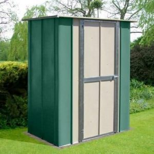 5' x 3' Canberra Utility Metal Shed with Flat Roof and Hinged Door