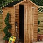 5' x 4' Waney Edge Budget Shed