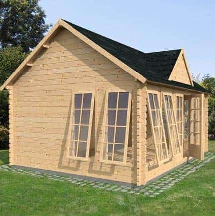5.5m x 4m Pool House Log Cabin