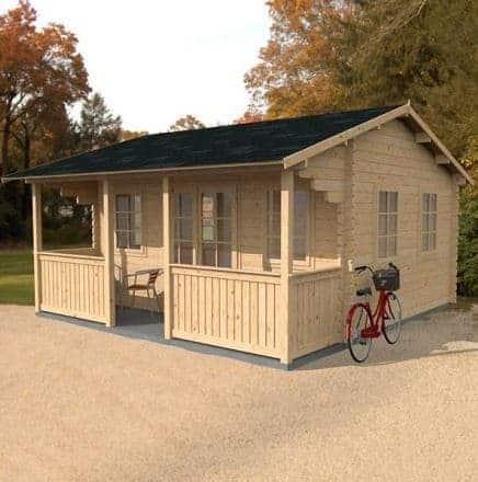 5m x 4.8m Maine Log Cabin