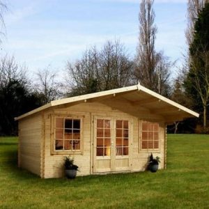 5m x 5m Haven Log Cabin