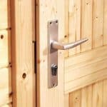 5m x 5m Haven Log Cabin Door Security