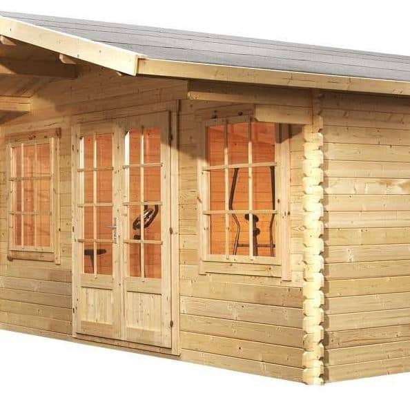 5m x 5m haven log cabin for Windows for log cabins