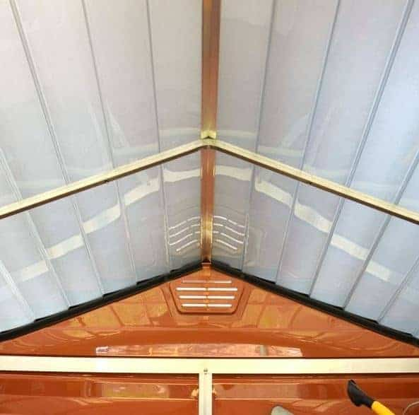 6 X 10 Palram Skylight Plastic Amber Shed