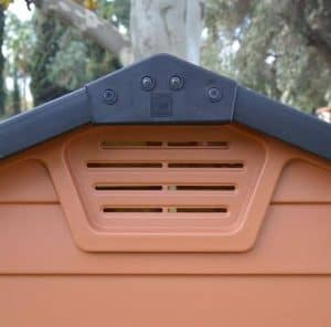 6' x 10' Palram Skylight Plastic Amber Shed exterior air vent