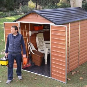 6' x 10' Palram Skylight Plastic Amber Shed featured