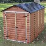6' x 10' Palram Skylight Plastic Amber Shed