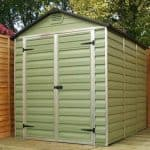 6' x 10' Palram Skylight Plastic Olive Green Shed