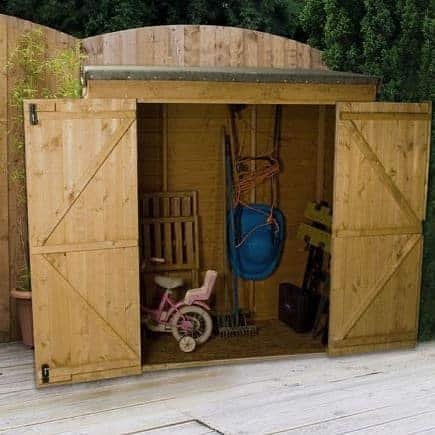 6 x 2'6 Pent Overlap Storage Shed