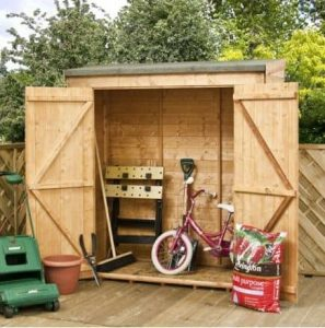 6' x 2'6 Tongue and Groove Modular Pent Storage Shed w Side Door