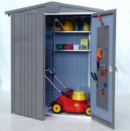 6 39 x 3 39 biohort europa metal shed size 1 what shed. Black Bedroom Furniture Sets. Home Design Ideas