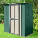 6' x 3' Canberra Utility Metal Shed with Flat Roof and Hinged Door