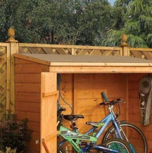 6' x 3' Rowlinson Deluxe Tongue and Groove Bike Shed Exterior
