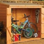 6' x 3' Rowlinson Deluxe Tongue and Groove Bike Shed Internal View