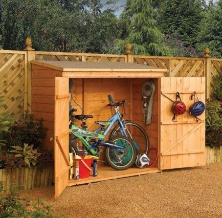 6' x 3' Rowlinson Deluxe Tongue and Groove Bike Shed