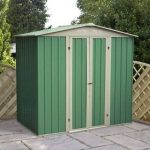 6' x 4' Budget Apex Metal Shed