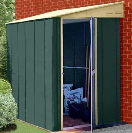 6 X 4 Canberra Lean To Metal Shed What Shed