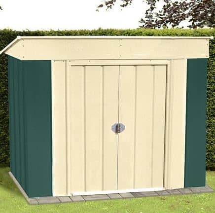6' x 4' Canberra Low Pent Metal Shed