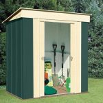 6' x 4' Canberra Pent Metal Shed
