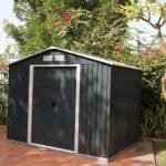6' x 4' Emerald Anthracite Metal Shed