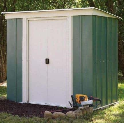 6' x 4' Rowlinson Metal Pent Garden Shed