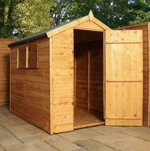 6' x 4' Single Door Tongue and Groove Apex Shed
