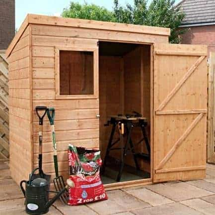 6' x 4' Single Door Tongue and Groove Pent Shed