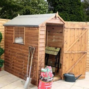 6' x 4' Standard Overlap Apex Garden Shed