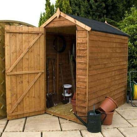 6' x 4' Windowless Standard Overlap Apex Wooden Shed