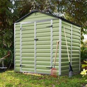 6' x 5' Palram Skylight Plastic Olive Green Shed