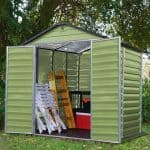6 x 5 Palram Skylight Plastic Olive Green Shed Overall Look