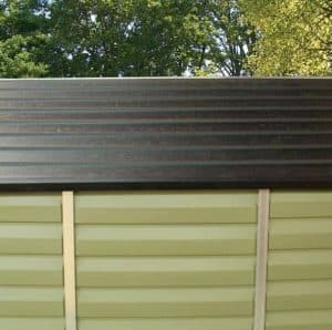 6 x 5 Palram Skylight Plastic Olive Green Shed Roof