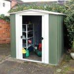 6' x 5' Rowlinson Metal Apex Garden Shed