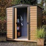 6' x 5' Rowlinson Woodvale Metal Garden Shed