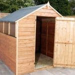 6' x 6' Budget Overlap Apex Shed