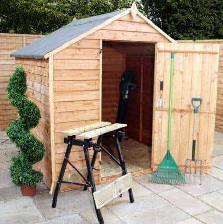 6' x 6' Budget Overlap Apex Shed With No Windows