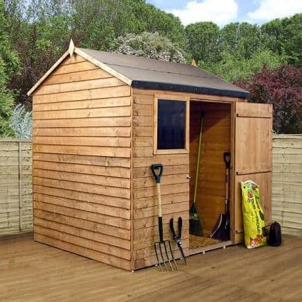 6' x 6' Reverse Overlap Apex Wooden Shed