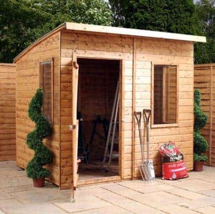 6 X 8 Curved Roof Aero Shed
