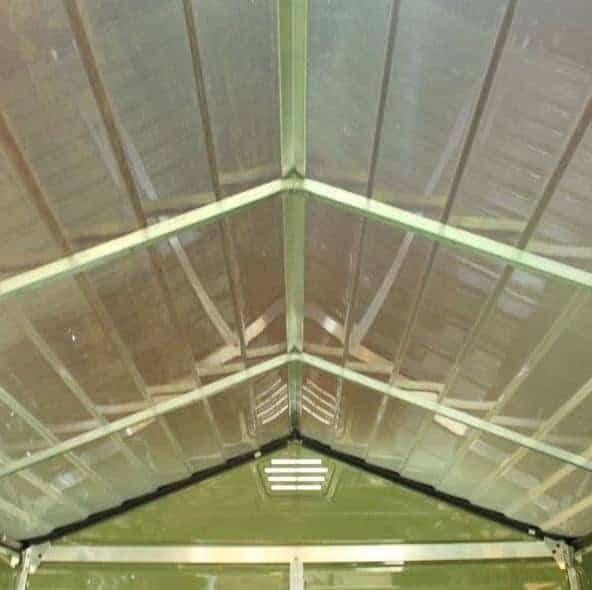 6 x 8 palram skylight plastic olive green shed for Garden shed ventilation