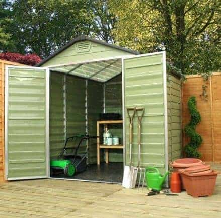 6' x 8' Palram Skylight Plastic Olive Green Shed